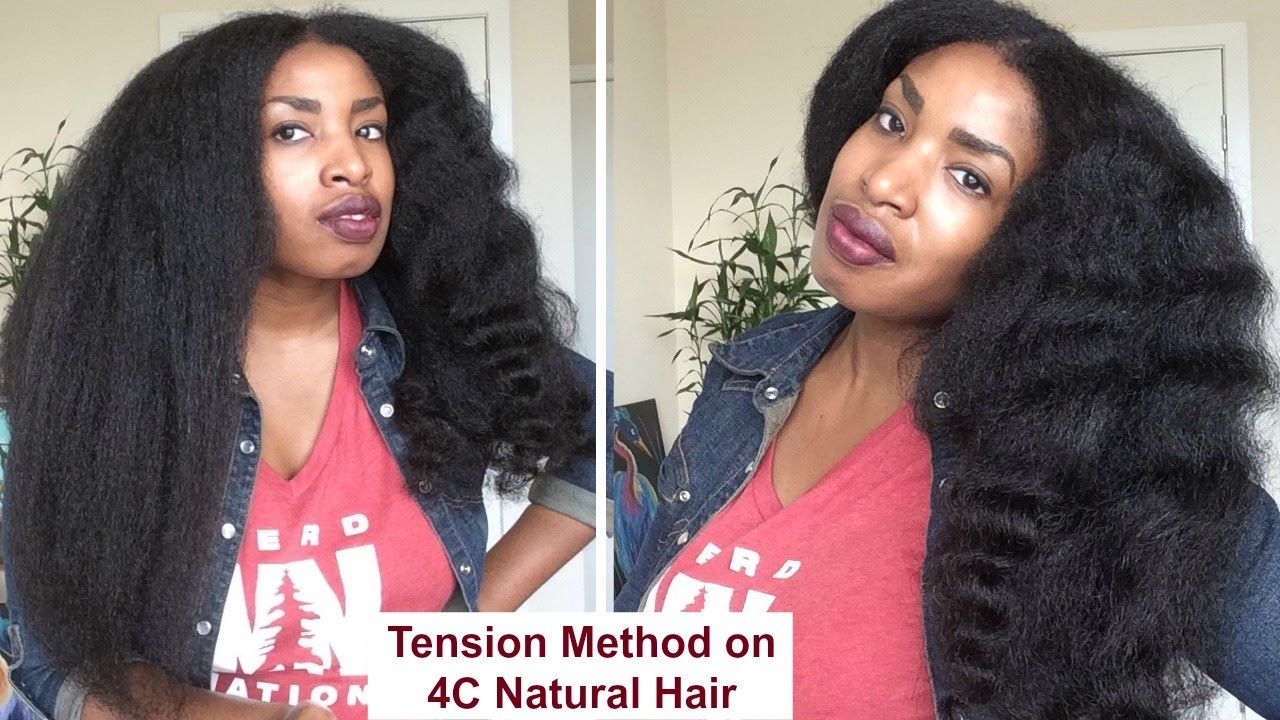 Blow Drying 4c Natural Hair Using The Tension Method Dry Natural Black Hair Natural Hair Styles 4c Natural Hair
