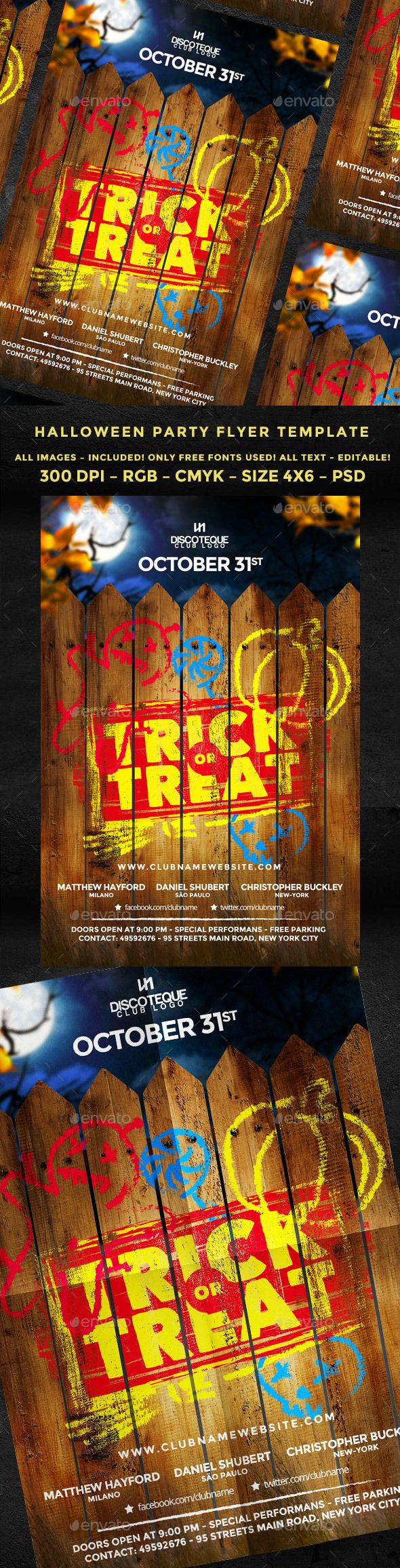 Halloween Flyer Template Free Heartpulsar