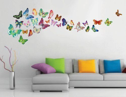 pinchris undery on molly's bedroom | butterfly wall stickers