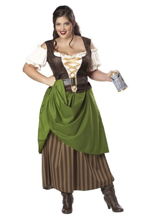 90a4f748c11 Tavern Girl Dress Barmaid Peasant Medieval Renaissance Serving Wench Plus  Size  CaliforniaCostume  CompleteCostume
