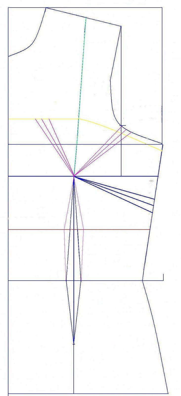 Como trazar el molde para hacer un strapless | Diseño y patrones ...