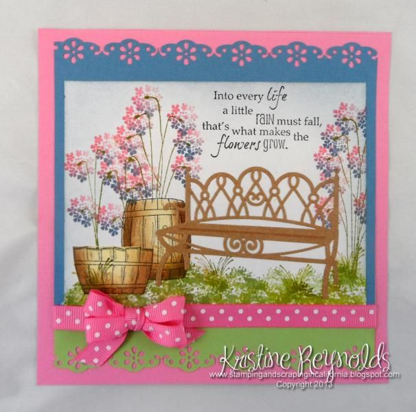 Garden Bench 2 I Paired Spellbinders D Lite Bench Die With The