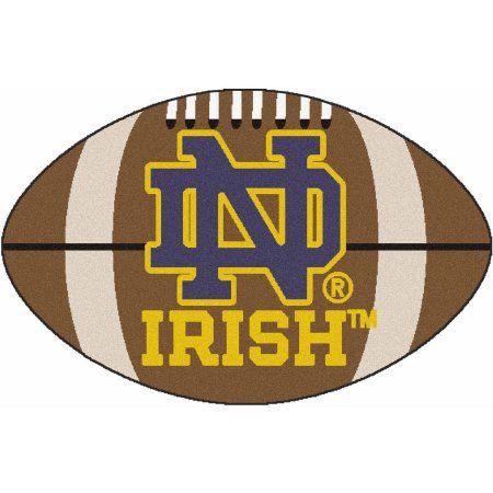 Notre Dame Football Mat, Brown