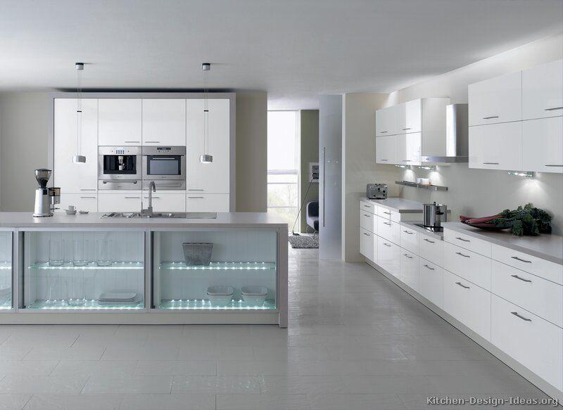 Modern White Kitchen Cabinets #TT214 (Alno.com, Kitchen-Design-Ideas ...