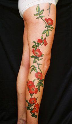 Rose Thorns Tattoo Leg Tattoos Women Best Leg Tattoos Leg Tattoo Men