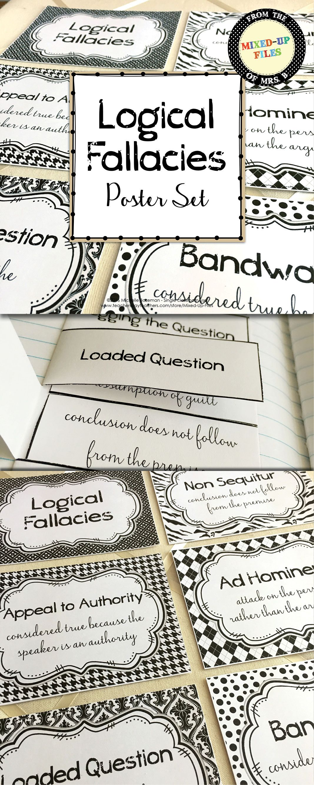 Logical Fallacies Posters