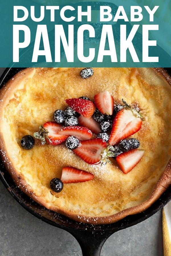 Dutch Baby Pancake with Berries and Cream | Sunday Supper ...