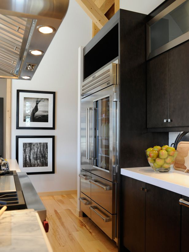 Dream Home 2011 Kitchen Storage Cabinets Glass Doors And Refrigerator
