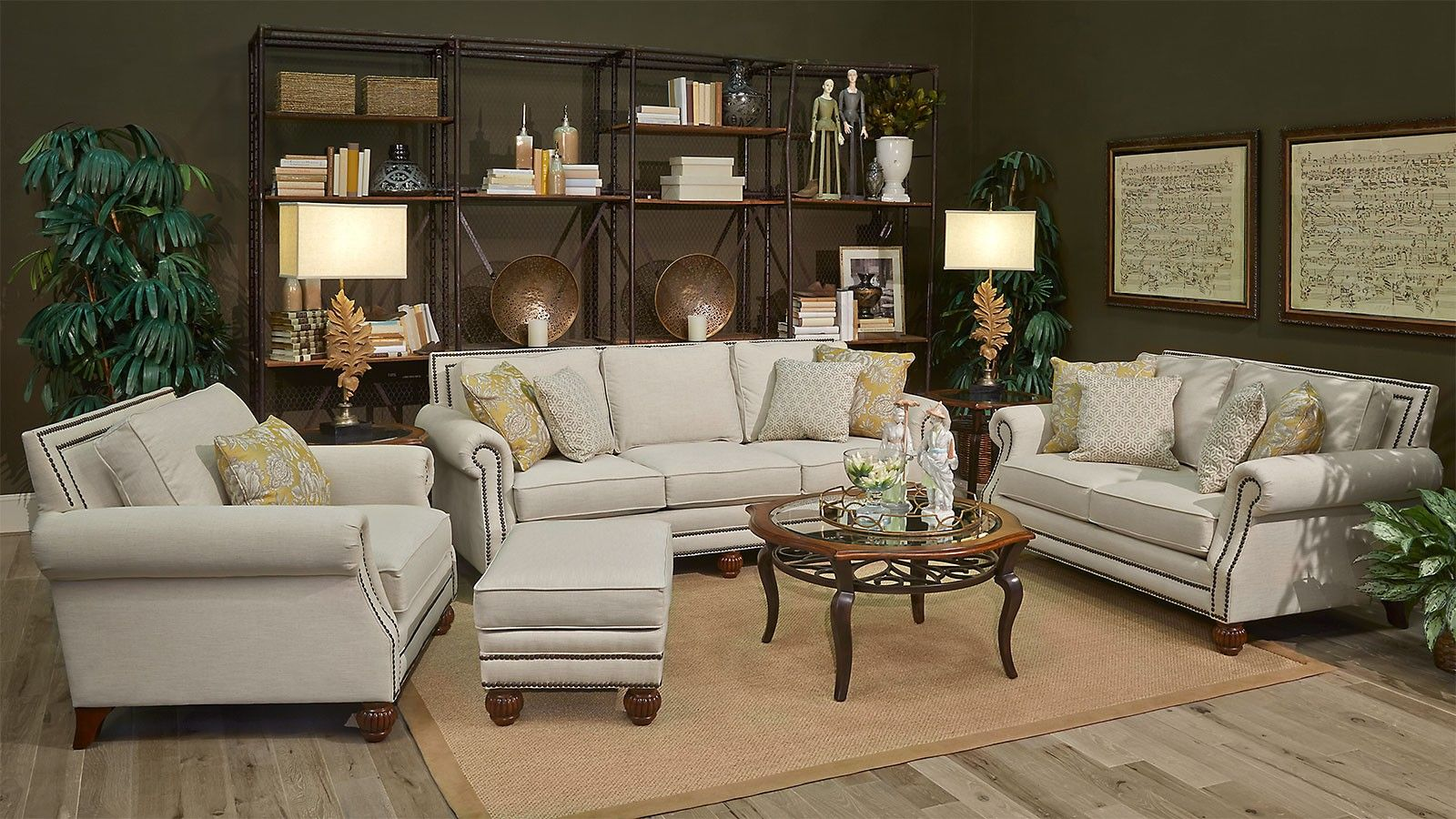 silver glass living room furniture%0A Gallery Furniture Kurtz Linen Living Room Collection