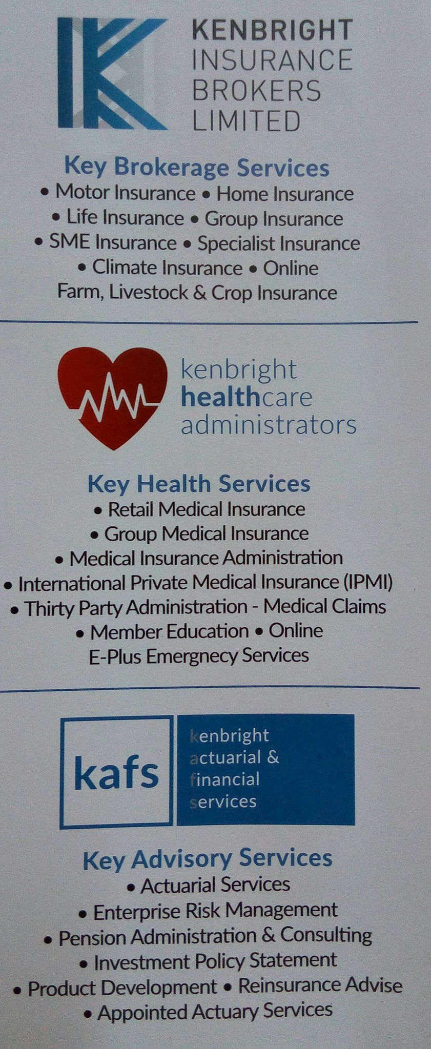 Insurance? Healthcare? Actuarial services? Need any of