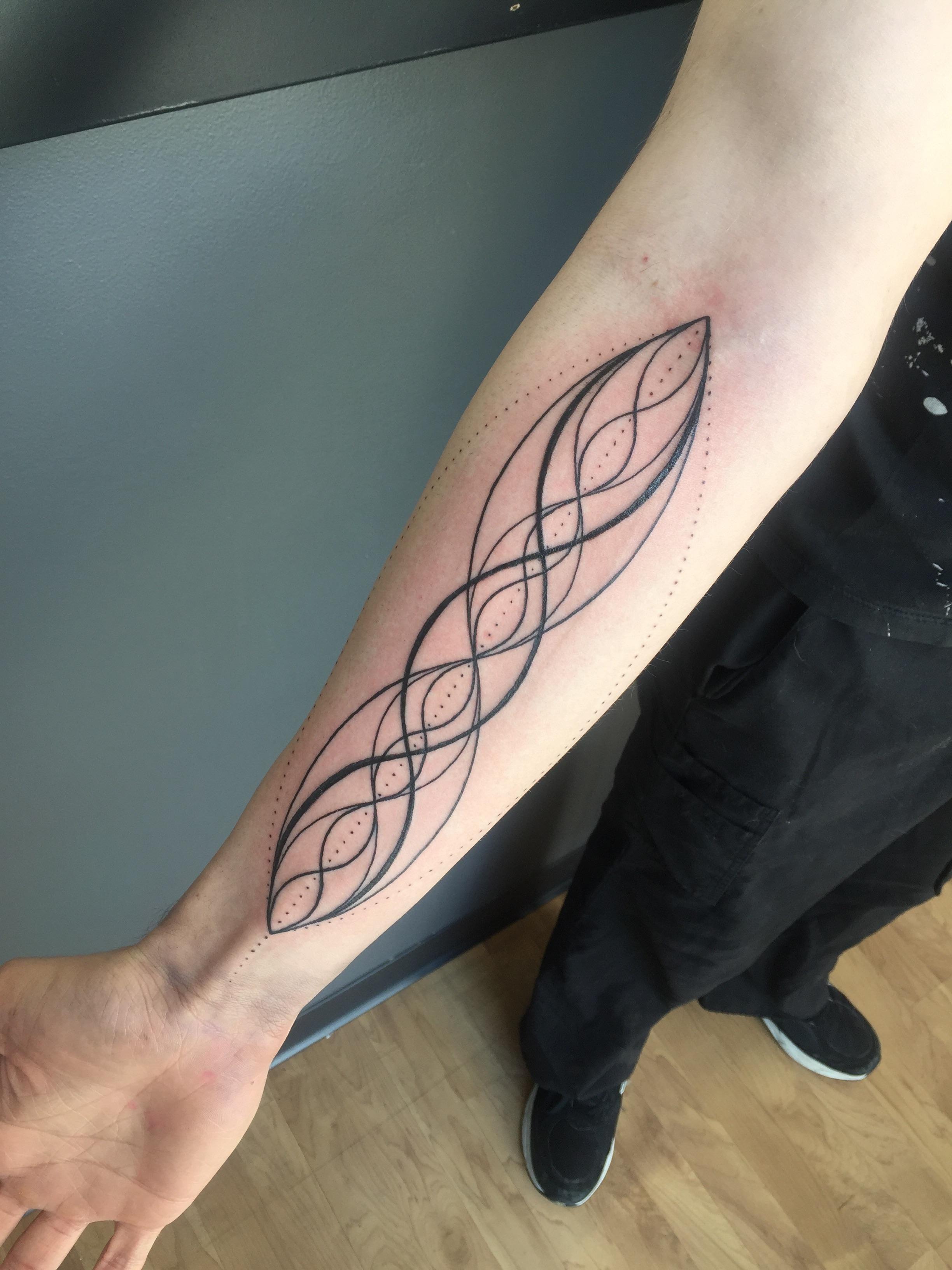 The Harmonic Series done by Annelisa Ochoa at 27 tattoo in Salt Lake City, Utah.