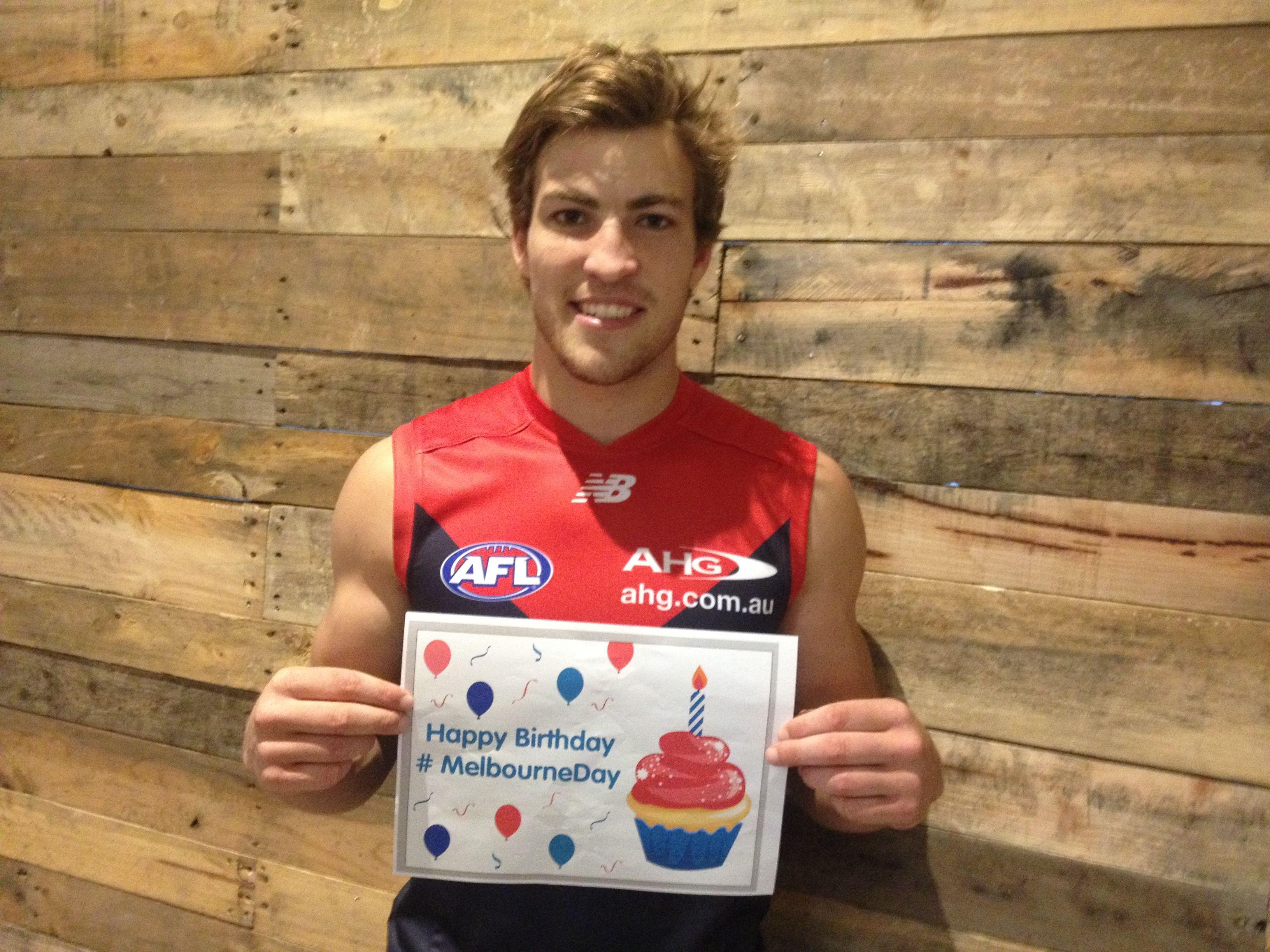 AFL Melbourne Football Club player Jack Viney.