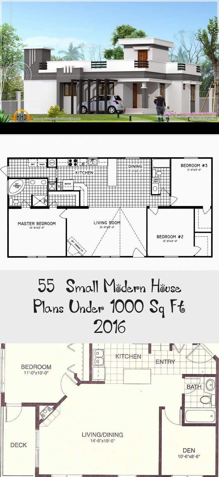 50 Small Modern House Plans Under 1000 Sq Ft 2019 # ...