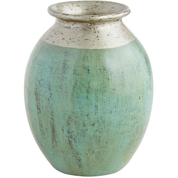 Pier 1 Imports Patina Vase Turquoise Silver 80 Liked On