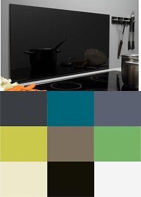 Spritzschutz aus glas 9 farben glasr ckwand k che herd for Glaswand kuche spritzschutz