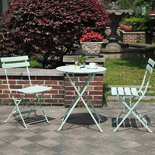 6c5583ed70b1 Descendants Costumes Grand Patio Premium Steel Patio Bistro Set Folding Outdoor  Patio Furniture Sets 3 Piece Patio Set of Foldable Patio Table and Chairs  ...