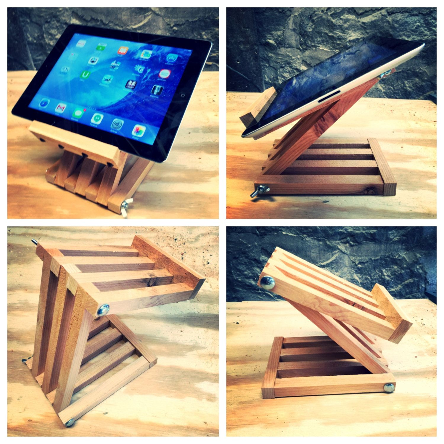 wooden table stand for tablets.....best one Wood ipad