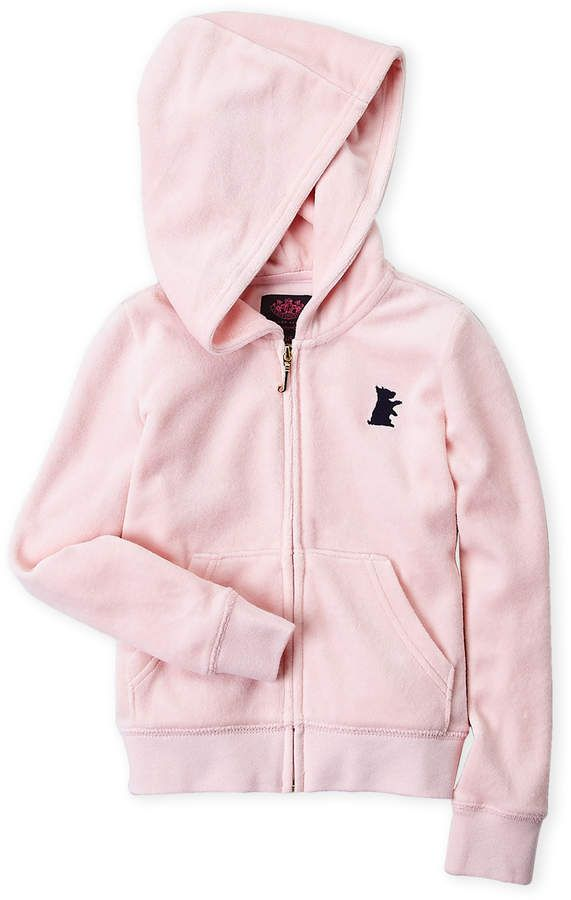 ca1b9dfd2 Juicy Couture Girls 4-6x) Light Pink Zip-Up Velour Hoodie | Products ...