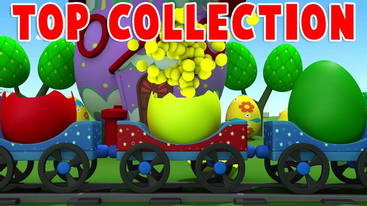 Colors, Shapes, ABC with Train Nursery Rhymes | Top Collection ...