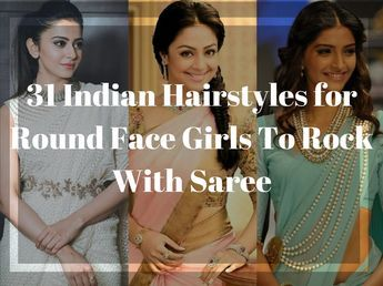 Hairstyle On Saree For Round Face Open Hairstyles Hair Styles Wedding Hairstyles Videos