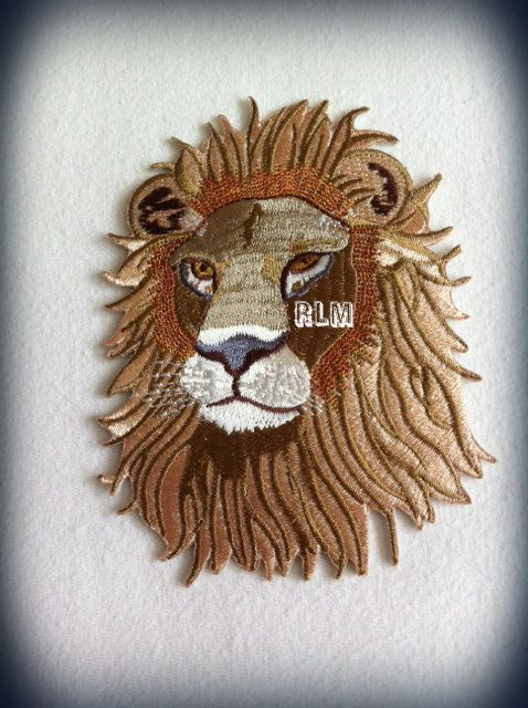 King Lion Face Embroidered Patch Irie Rasta Culture