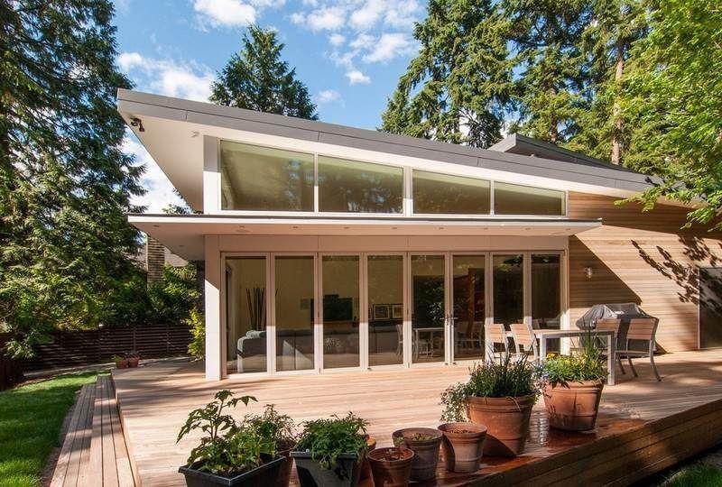 Modernes Haus Mit Pultdach modernes haus mit pultdach und glasfassade hausbau typen