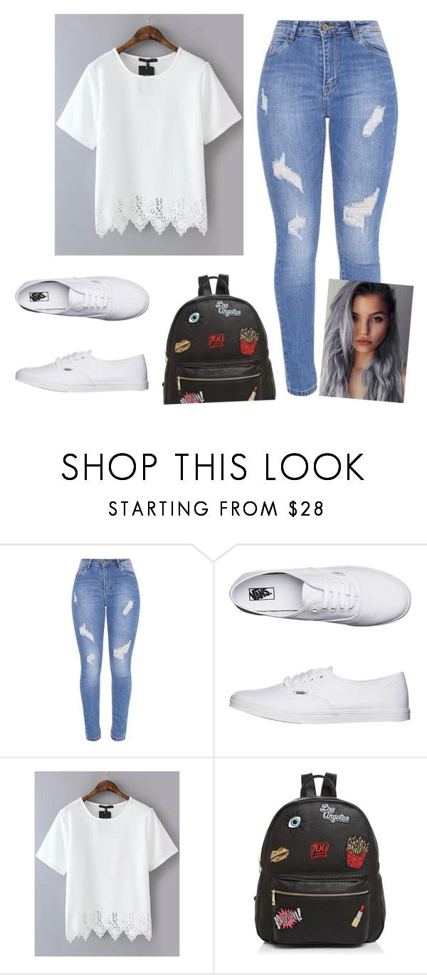 """""""school outfit #1"""" by danifashionblog ❤ liked on Polyvore featuring Vans and Ollie & B"""