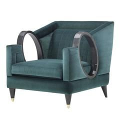 Contemporary Ulysse Armchair With A Unique Structure Modern