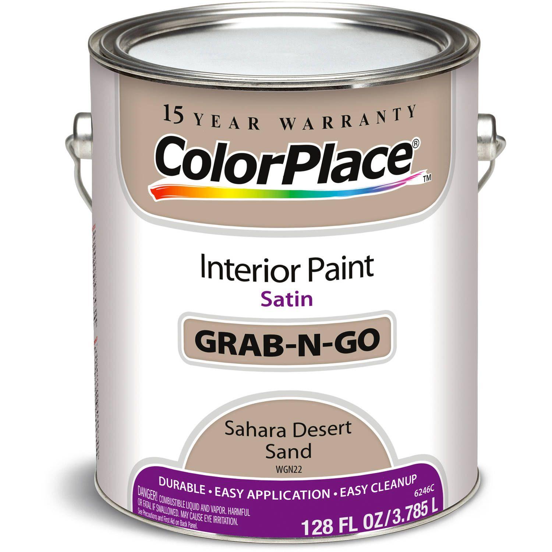 Colorplace Sahara Desert Sand Satin Interior Paint 1 Gallon Walmart Com