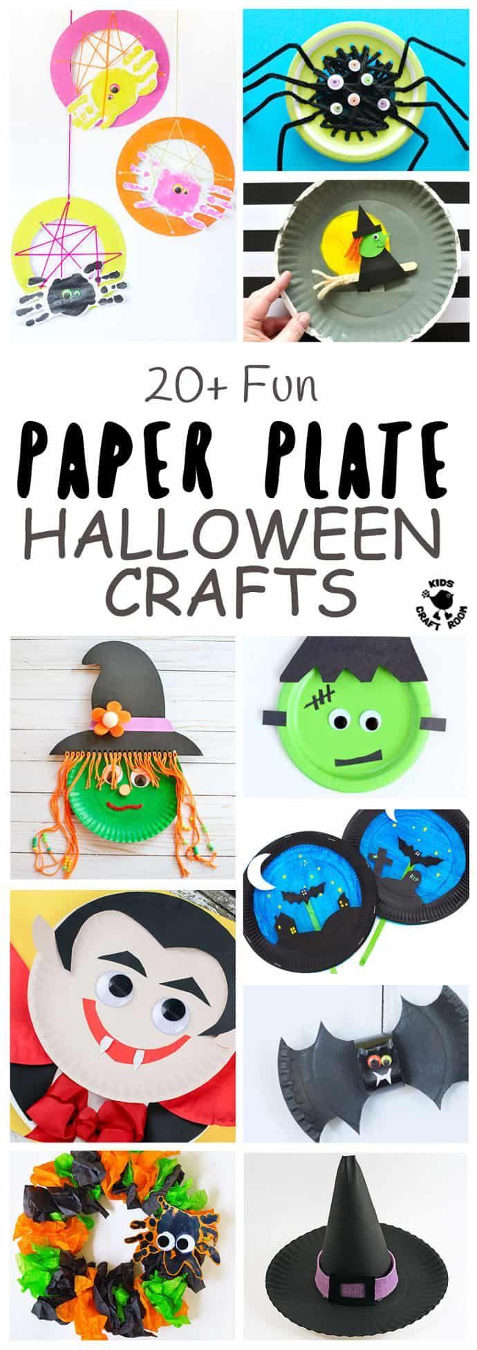 20+ Fun Paper Plate Halloween Crafts Halloween crafts