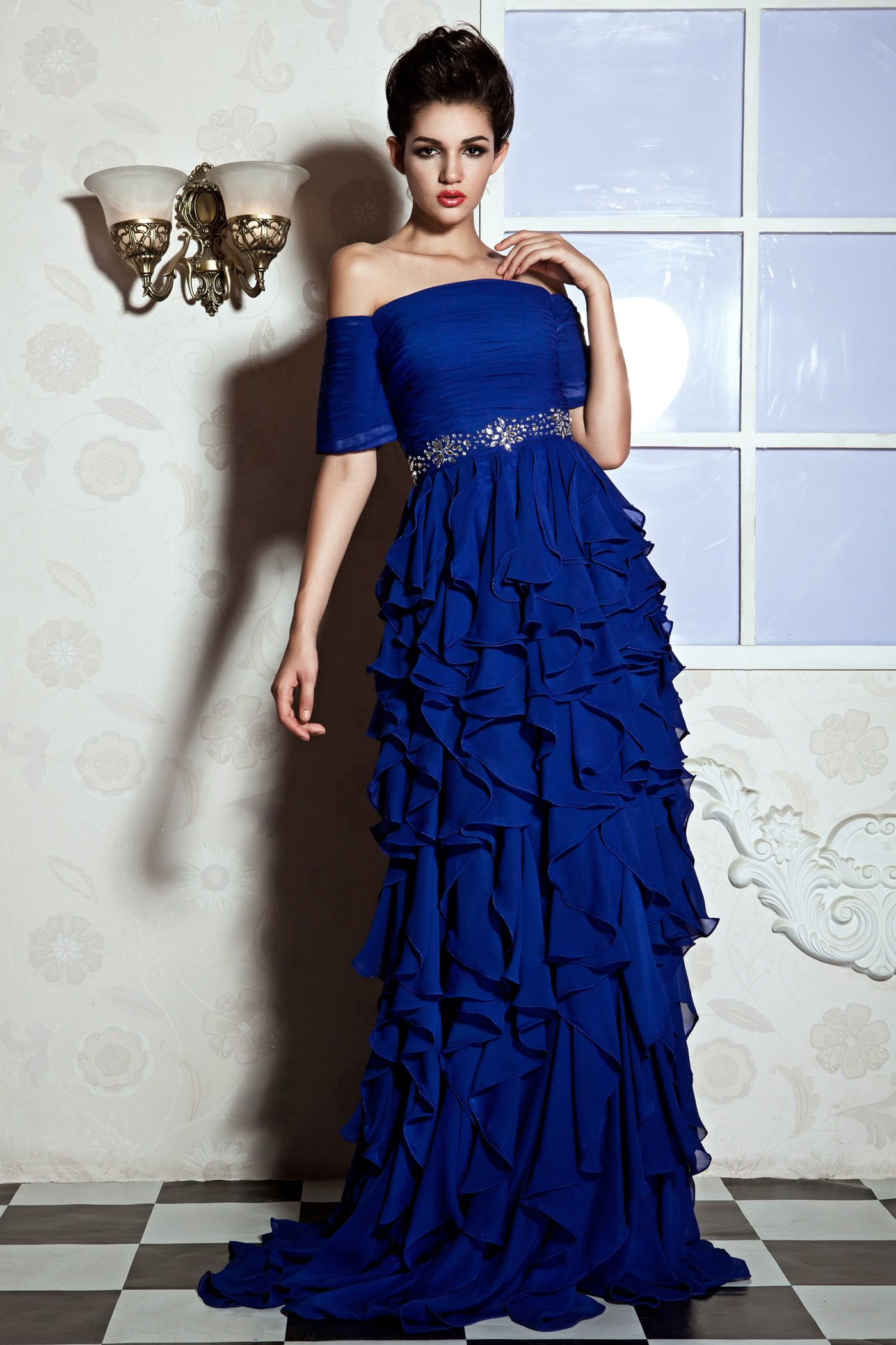 Special, Gorgeous A-Line Off-the-Shoulder Floor-Length Juliana's PromOff-the-ShoulderEvening Dress, Prom,107.99