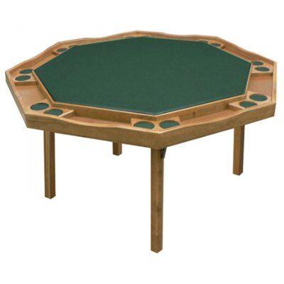 Kestell Furniture 57 Period Style Folding Poker Table Upholstery Bottle Green Felt Finish Natural Poker Table Octagon Poker Table Folding Poker Table