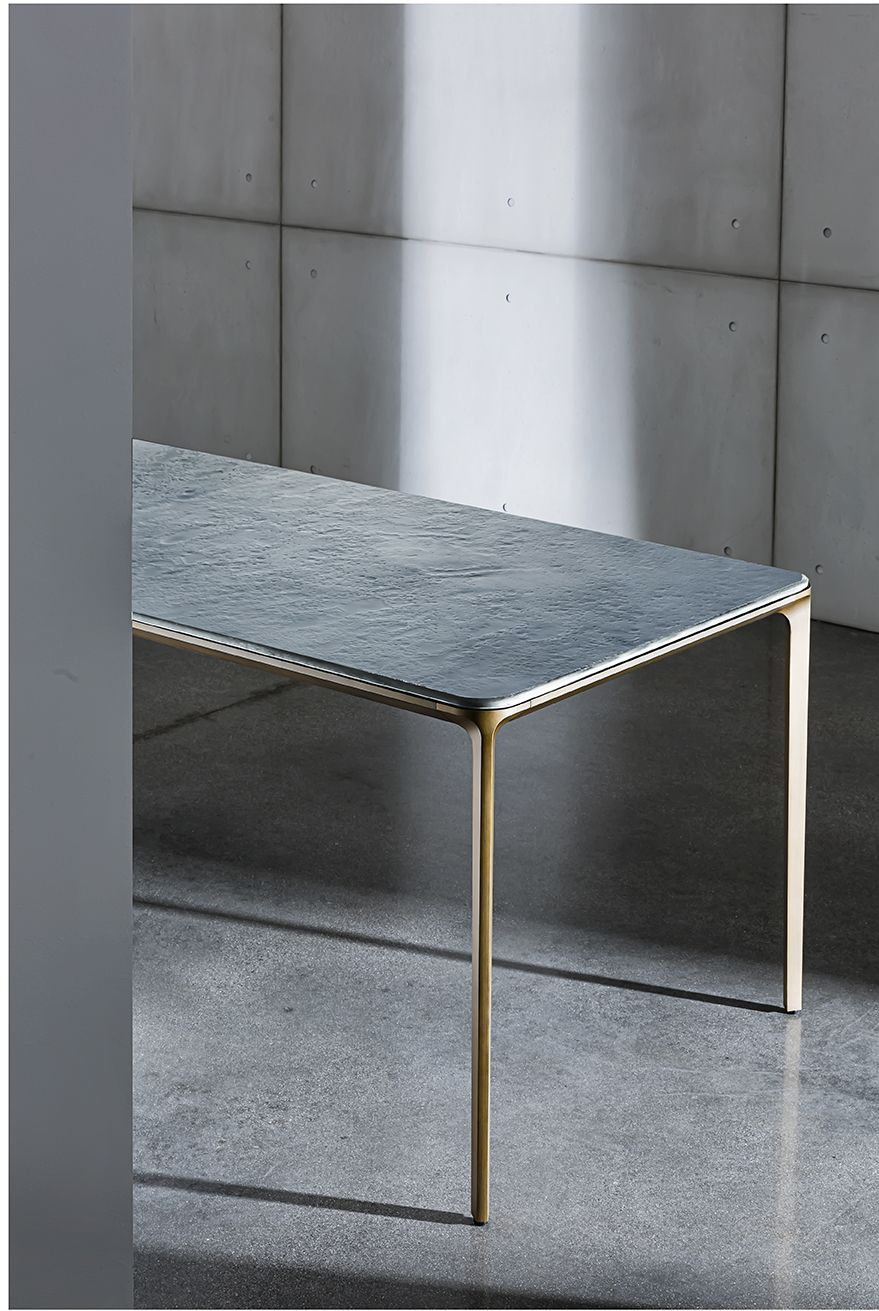Slim With Pearly Materia Top And Burnished Metal Structure Sovet