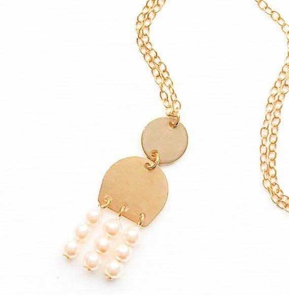 Photo of Perlenkette, Perle Anhänger Halskette, einzigartige Perlenkette, Perle Anweisung Halskette, Perle Hochzeit Halskette, Perle Choker Halskette