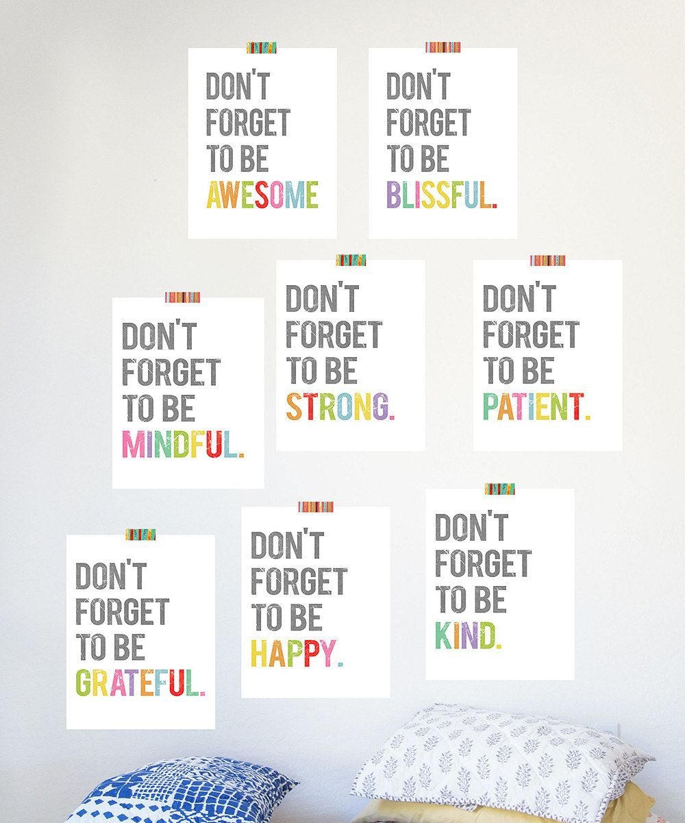 Look at this 'Don't Forget to Be' Print Set on #zulily today!