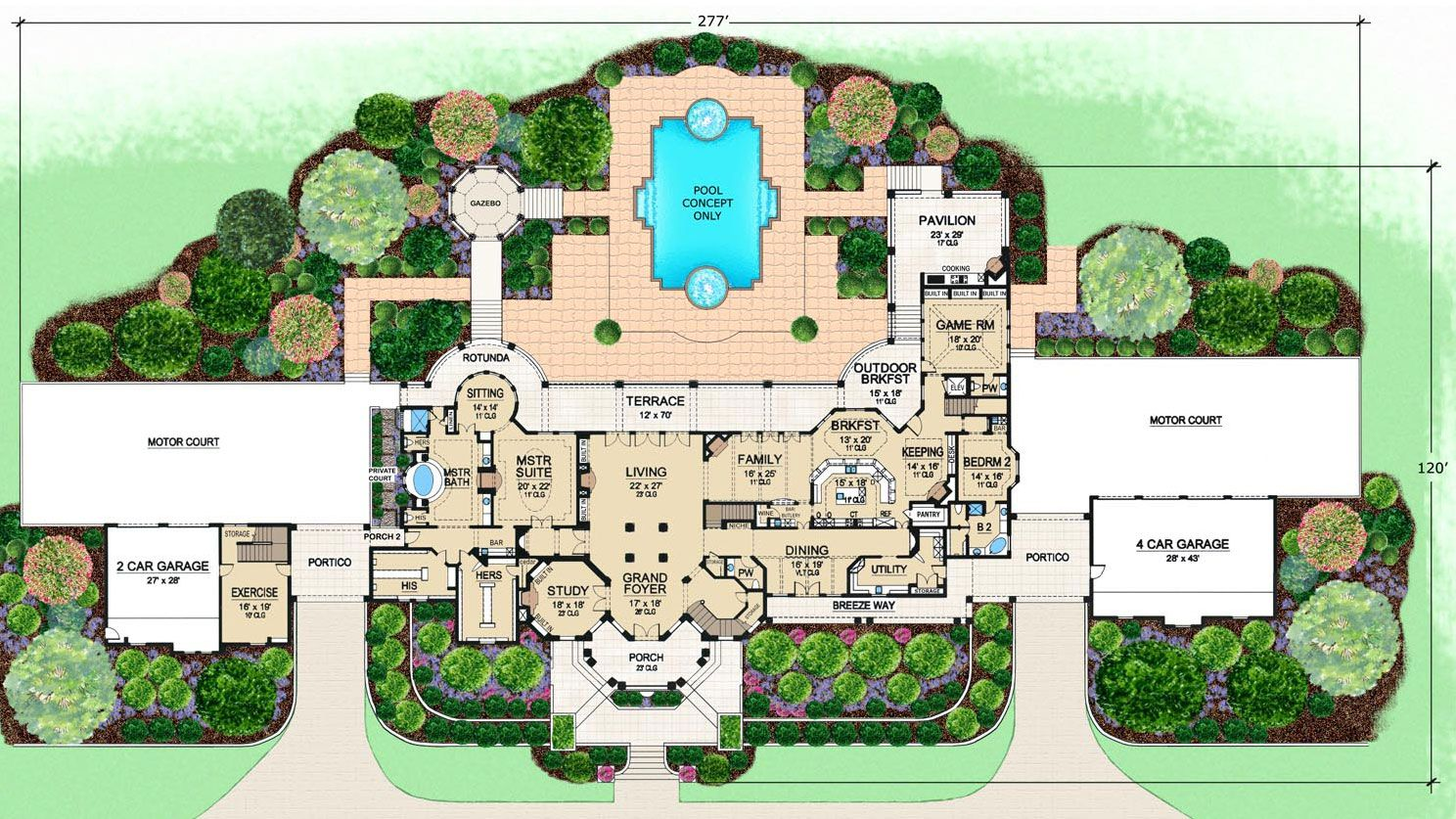 Lovely Luxury Mediterranean House Plan Cartagena First Floor Plan