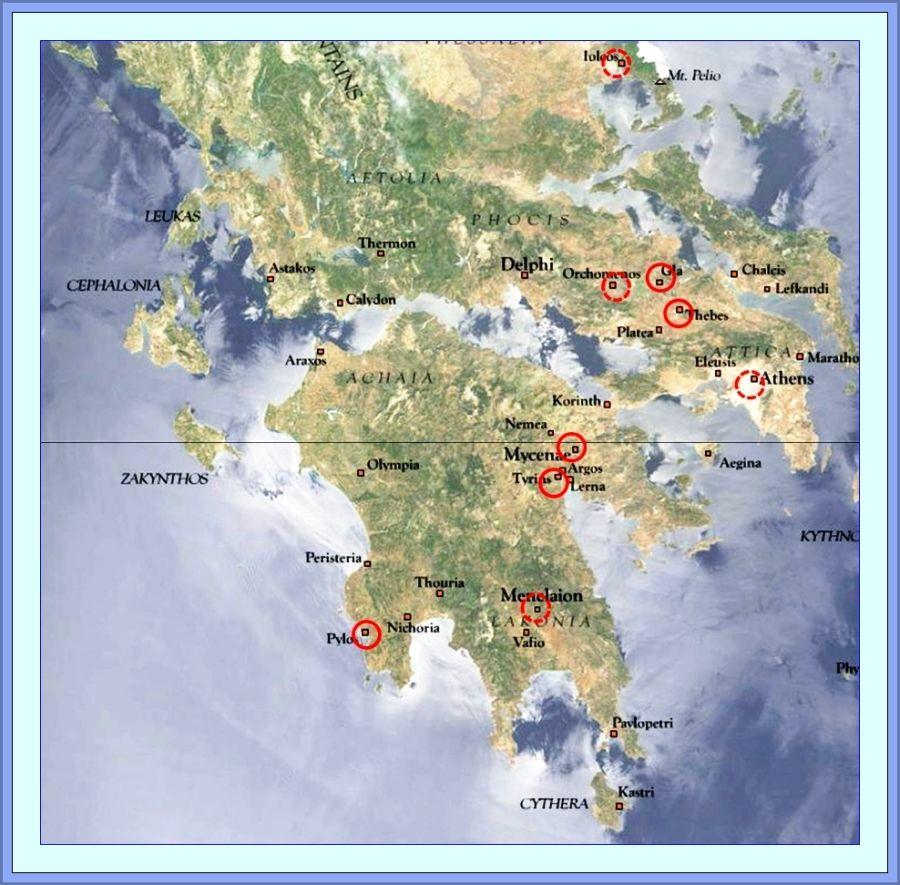 Bronze Ag Greece Mycenae and Pylos sphere of influ