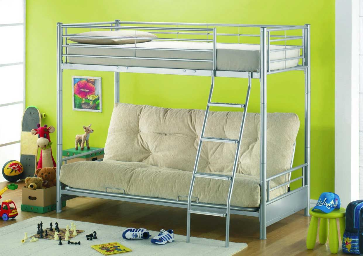 Embling Berths Bunk Bed With Futon