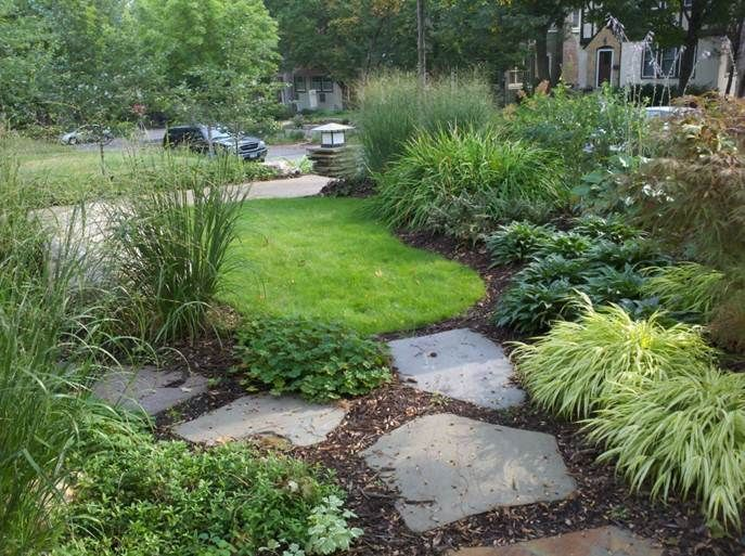 Design ideas for urban front yards minneapolis st for Natural landscape design
