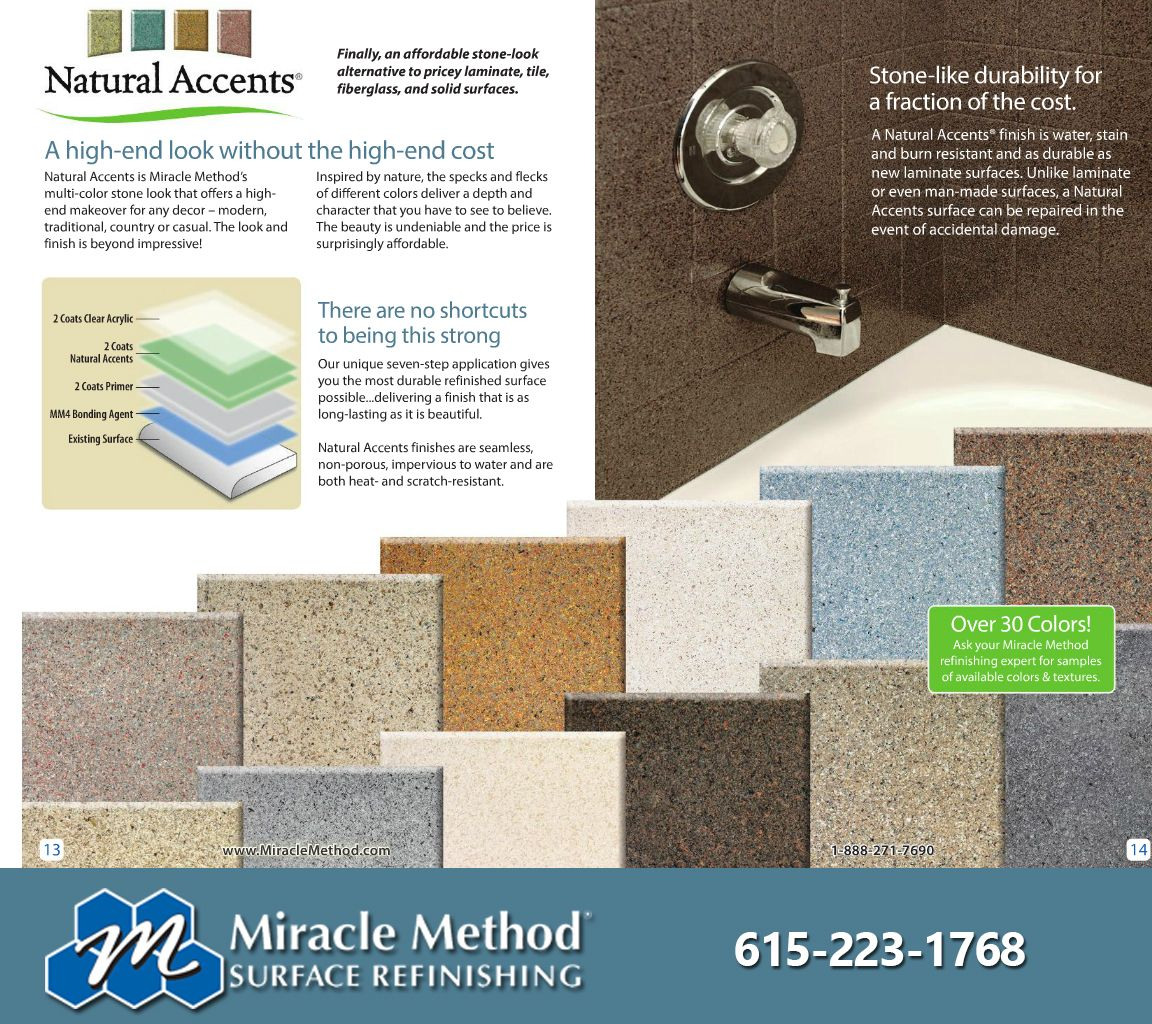 Countertop finishes are available in dozens of colors and textures ...
