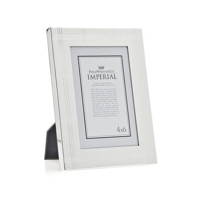 Philip Whitney Imperial Plaid Picture Frame Size: 4\