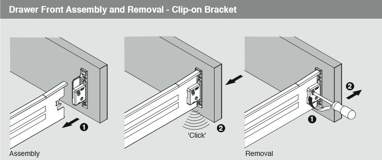 Harn Drawer Clip On Assembly Motion Hardware Diagram