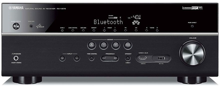 The Yamaha RX-V679 is a 7 2-ch network AV receiver with HDMI