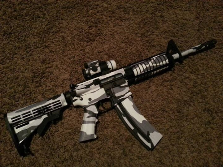 Ar 15 Rifle Skin Camo Guns And Snow
