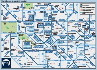 Night Buses in Central London Travel Pinterest London bus map