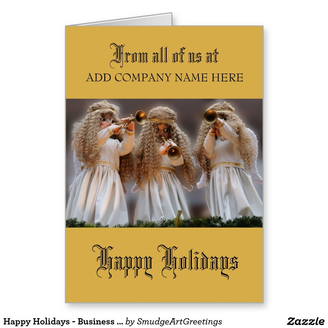 Happy Holidays - Business / Corporate - Angels Card | Holiday, Angel ...