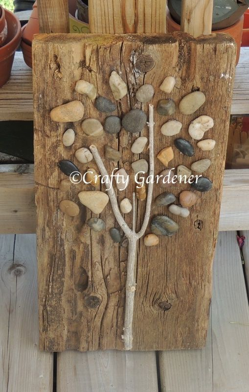 Ive Been Creative And Crafty Lately Just Created A Tree Out Of Wood Stones It Was Simple Project To Make