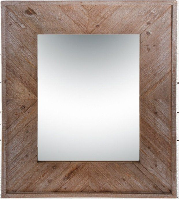 Rustic Wood Framed Rectangle Wall Mirror | Rustic wood, Woods and ...