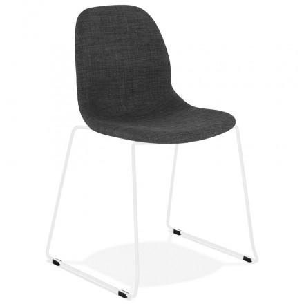 Tres Belle Chaise Empilable En Tissu Gris Fonce Pour Votre Plus Grand Plaisir En 2020 Chaise Design Chaise Chaise Pliante