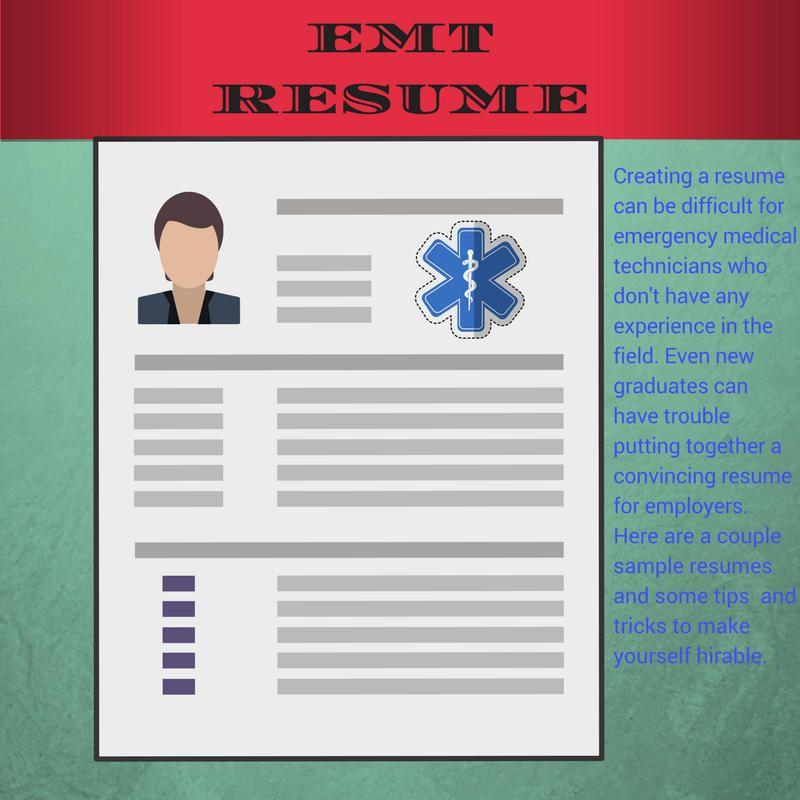 Emt resume samples emt training base job resume